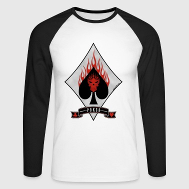 Poker - T-shirt baseball manches longues Homme