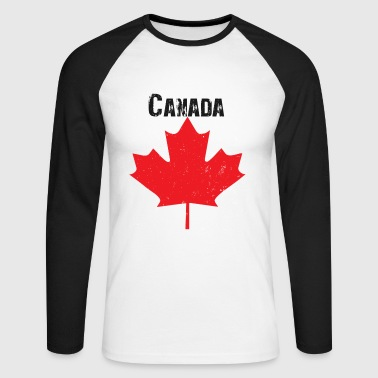Grungy Maple leaf design - Men's Long Sleeve Baseball T-Shirt