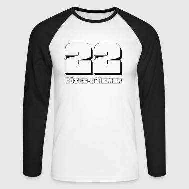 22 Côtes-d'Armor - T-shirt baseball manches longues Homme
