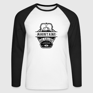 mountains are calling - schwarz - Männer Baseballshirt langarm