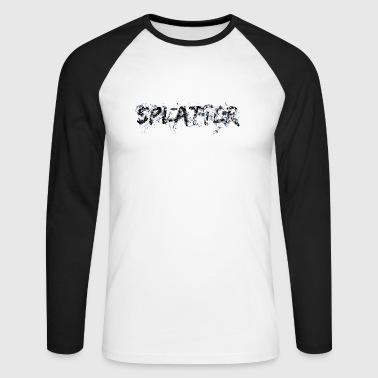 Splatter - Men's Long Sleeve Baseball T-Shirt