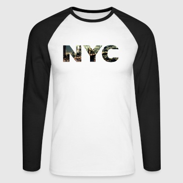 newyork - T-shirt baseball manches longues Homme
