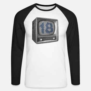 Date Of Birth Date of birth 18 years - Men's Long Sleeve Baseball T-Shirt
