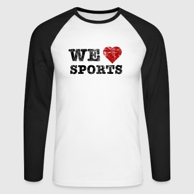 we_love_sports_vintage - Langærmet herre-baseballshirt