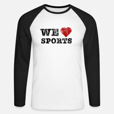 we_love_sports_vintage - Mannen baseballshirt lange mouw