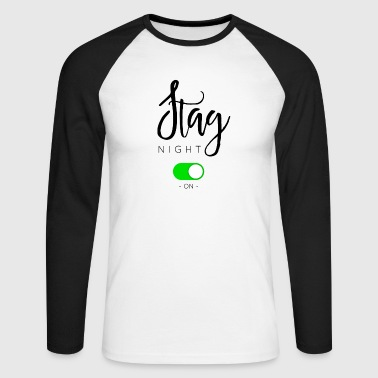 Stag STAG NIGHT - Men's Long Sleeve Baseball T-Shirt
