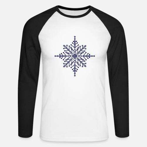 Snow Flakes Mens Longsleeve Tee Shirt