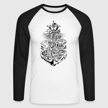 AD Anchor - Men's Long Sleeve Baseball T-Shirt
