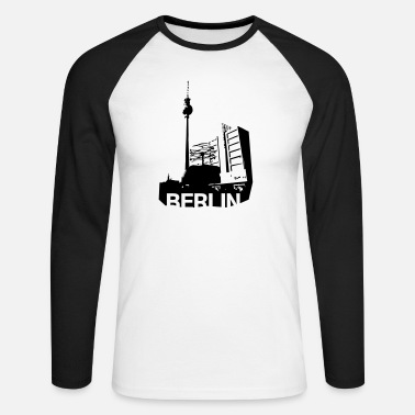 Alexanderplatz Alexanderplatz in Berlin - Men's Longsleeve Baseball T-Shirt