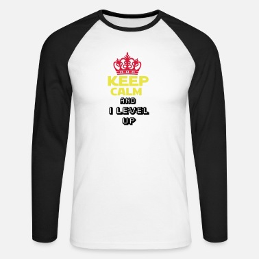Royaumeuni KEEP CALM AND I LEVEL UP - T-shirt manches longues baseball Homme