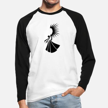Angel-Tribal - Men's Longsleeve Baseball T-Shirt