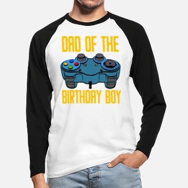 Dad Of The Birthday Boy Awesome Game Gaming Shirt - Camiseta de manga larga de béisbol hombre