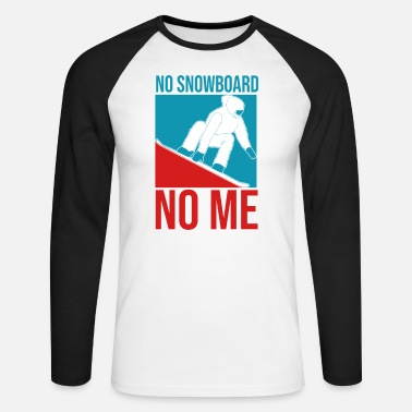 Snowboard Snowboarder snowboard - T-shirt manches longues baseball Homme