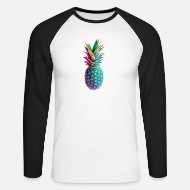 Couleur ananas - T-shirt manches longues baseball Homme