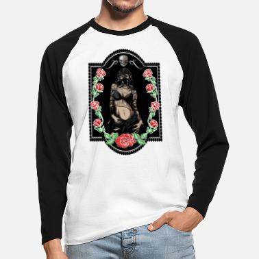 Trend Underwear Power Woman Feminism Gas Mask Rose Sexy Pride - Men's Longsleeve Baseball T-Shirt