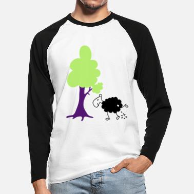 Schwarzes Schaf Schwarzes Schaf Pisser / Sheep in wolf's clothing - Men's Longsleeve Baseball T-Shirt