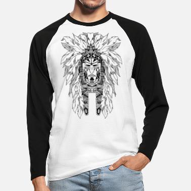 Black indian - Men's Longsleeve Baseball T-Shirt