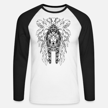 White indian - Men's Longsleeve Baseball T-Shirt