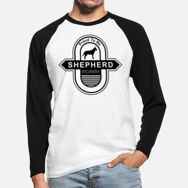 Long-haired Long-haired Herd Dog German Shepherd Dog Mommy | Dog mom dog owner - Men's Longsleeve Baseball T-Shirt
