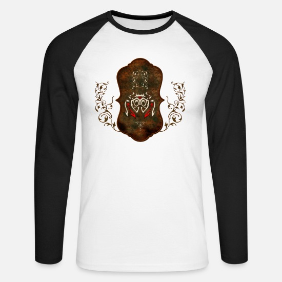 Animal Long sleeve shirts - Decorative chandelier - Men's Longsleeve Baseball T-Shirt white/black