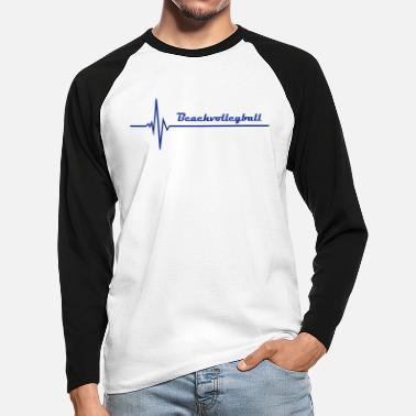 Beachvolleyball Beachvolleyball - Mannen baseball longsleeve