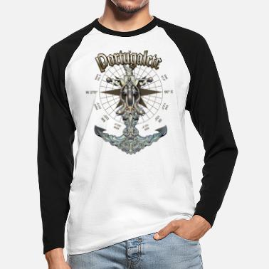 Portugalete Anchor Nautical Sailing Boat Summer - Men's Longsleeve Baseball T-Shirt