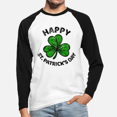 Shamrock St. Patricks Day gratulerer med Patty Paddy - Langermet baseball-T-skjorte for menn
