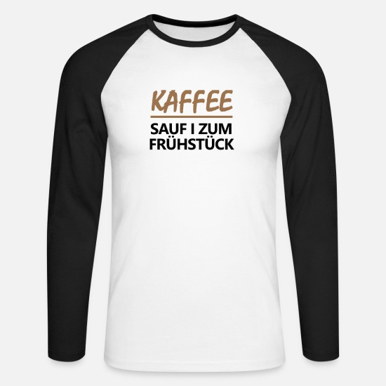 Austria Long sleeve shirts - Coffee drunkard | black - Men's Longsleeve Baseball T-Shirt white/black