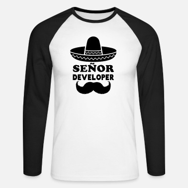 Senior Señor Developer voor Programmeren & Senior Developer - Mannen baseball longsleeve