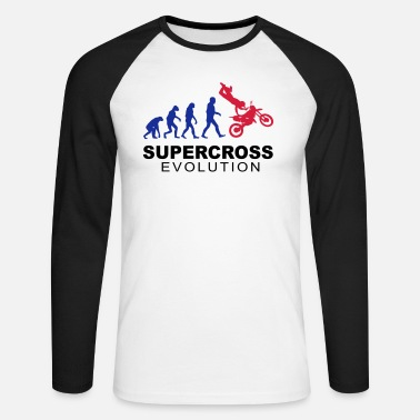 Supercross Supercross Evolution - Männer Baseball Langarmshirt