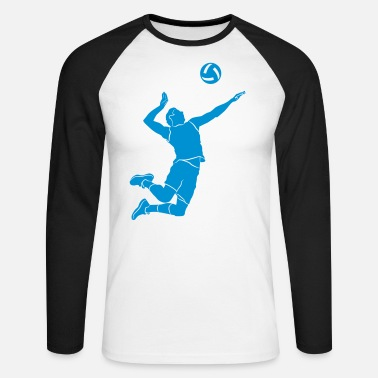 Volleyer Volleyball player # 1 - Men's Longsleeve Baseball T-Shirt