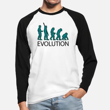 Fanellidas evolution - Men's Longsleeve Baseball T-Shirt