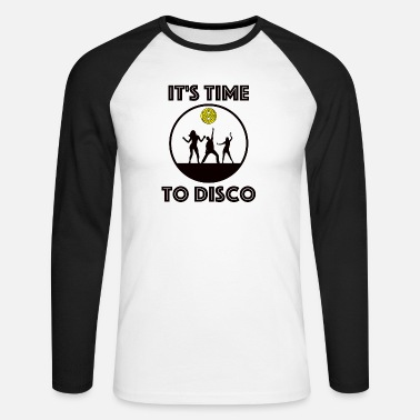 It's Time to Disco - Männer Baseball Langarmshirt