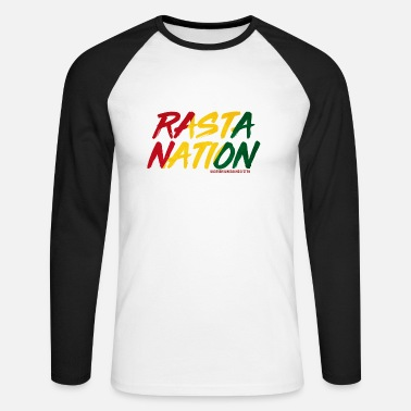 Nation RASTA NATION - Maglietta maniche lunghe baseball uomo