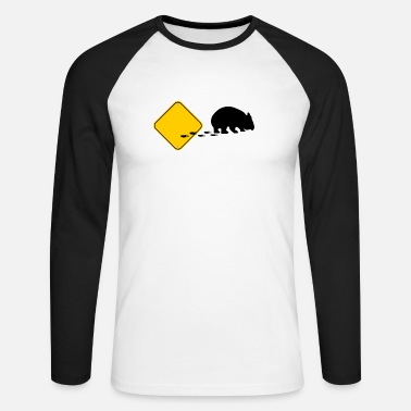 Wombat, Break out! - Men's Longsleeve Baseball T-Shirt