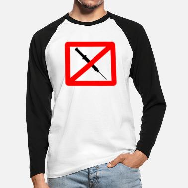 Drugs No Drugs - Men's Longsleeve Baseball T-Shirt