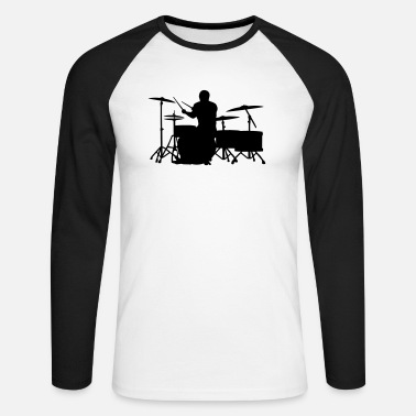 Glatze Drummer on Greater Set - Männer Baseball Langarmshirt
