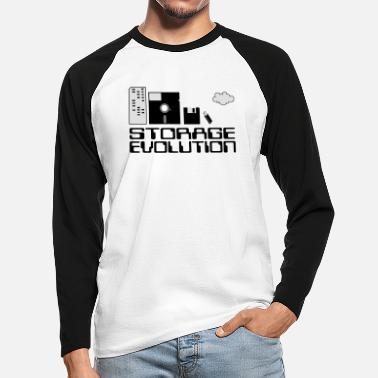 Personal Computers personal computer storage evolution - Men's Longsleeve Baseball T-Shirt