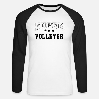 Volleyer Super Volleyer - Men's Longsleeve Baseball T-Shirt