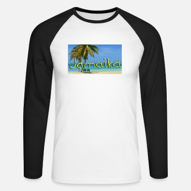 JAMAICA - Men's Longsleeve Baseball T-Shirt