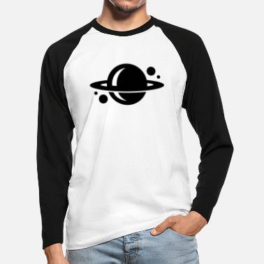 Planets planet - Men's Longsleeve Baseball T-Shirt