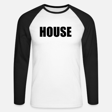 House house - T-shirt manches longues baseball Homme