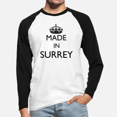 Surrey Personalise: Made In Surrey - Men's Longsleeve Baseball T-Shirt