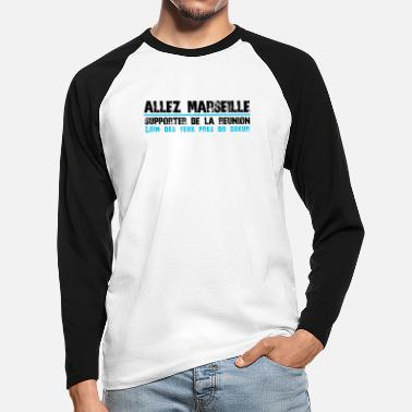 GO Collection MARSEILLE Supporter Reunion - Mannen baseball longsleeve