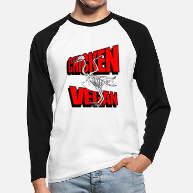 Illustratie Skelet illustratie - Mannen baseball longsleeve