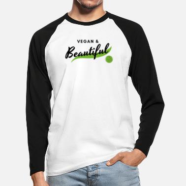 Fair vegan & beautiful - Männer Baseball Langarmshirt