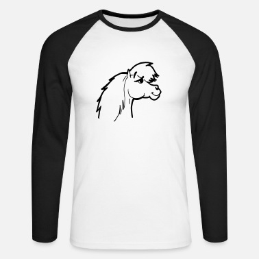Conceited Pony head conceited and vain cocky and cheeky - Men's Longsleeve Baseball T-Shirt