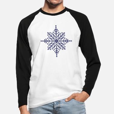Snow Crystal Snow crystal - Men's Longsleeve Baseball T-Shirt
