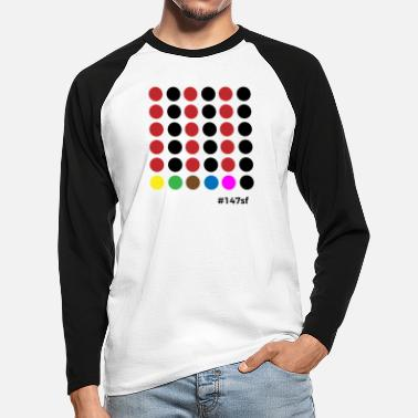 Snooker # 147sf - Men's Longsleeve Baseball T-Shirt