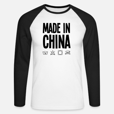 Label made in china label - Mannen baseball longsleeve